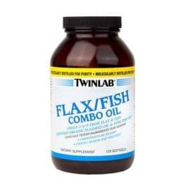 Organic Flax/Fish Combo oil 120 капсул Twinlab