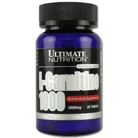 L-carnitine 1000 мг 30 таблеток Ultimate Nutrition