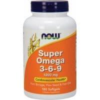 Super Omega 3-6-9 1200 mg 180 капсул NOW