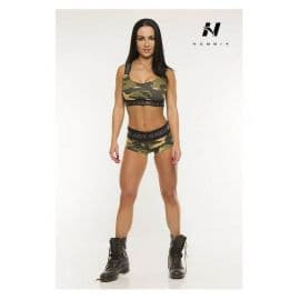 NEBBIA, 206, CAMO MINI TOP, WHITE