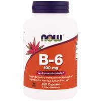 B-6 100 мг 250 капс. NOW Foods