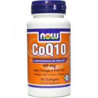 CoQ10 60 мг + Omega 3 60 капс. NOW Foods