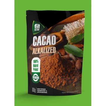 """Какао-порошок обезжиренный (алкализованный) """"ФитАктив"""". 100 г дойпак."""