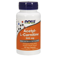 Acetyl-L Carnitine 500 mg (50 кап) NOW Foods