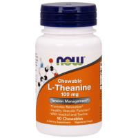 L-THEANINE 100 мг PLUS 90 жевательных табл. NOW Foods