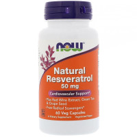 Natural Resveratrol 50 мг 60 вег. капс. NOW Foods