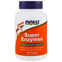 Super Enzymes 90 капс. NOW Foods