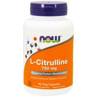 L-Citrulline 750 мг 90 вег. капс. NOW Foods