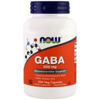 GABA 500 мг 200 вег. капс. NOW Foods