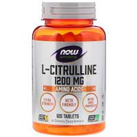 L-CITRULLINE 1200 мг 120 таб. медленного высвобождения NOW Foods