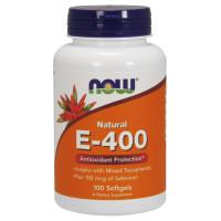 E-400 MIXED + SELENIUM 100 гел. капс. NOW Foods