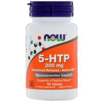5-HTP 200 мг 90 табл. медленного высвобождения NOW