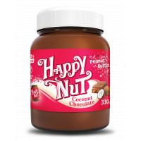 Шоколадная арахисовая паста С кокосом 330 г Happylife