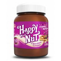 Шоколадная арахисовая паста С кусочками арахиса 330 г Happylife