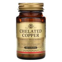 Chelated Copper (медь) 100 таб. Solgar