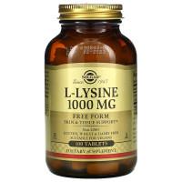 L-Lysine (лизин) 1000 мг 100 таблеток Solgar