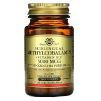 Methylcobalamin (витамин B12) 5000 мкг 30 пастил Solgar
