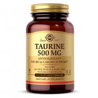 Taurine (таурин) 500 мг 100 растительных капсул Solgar