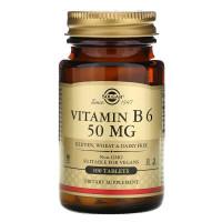 Vitamin B6 (витамин В6) 50 мг 100 таблеток Solgar