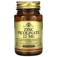 Zinc Picolinate (цинк пиколинат) 22 мг 100 таблеток Solgar