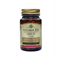Vitamin D3 (витамин D, холекальциферол) 1000 ME 100 пастил Solgar