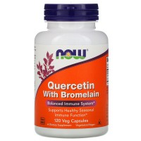 Quercetin with Bromelain (кверцетин, бромелаин) 120 раст. капс. NOW Foods
