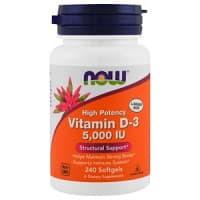 Vitamin D3 5000 IU 240 капс. NOW Foods