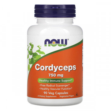 Cordyceps 750 мг 90 капсул NOW Foods