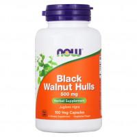 BLACK WALNUT HULLS 500 мг NOW Foods