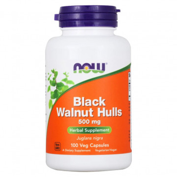 BLACK WALNUT HULLS 500 мг 100 капсул NOW Foods