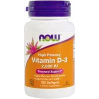 Vitamin D-3 2000 ME 120 гелевых капсул NOW Foods
