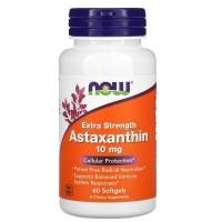 Astaxanthin, Астаксантин 10 мг - 60 мягких капсул NOW FOODS