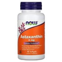 Astaxanthin, Астаксантин 4 мг - 90 мягких капсул NOW FOODS