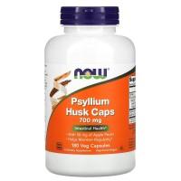 Psyllium Husk 700 мг (подорожник) + Pectin (пектин) 180 вег. капсул NOW Foods