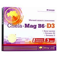 CHELA-MAG B6+D3 30 капсул Olimp