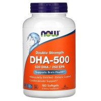 DHA- 500mg 90 гелевых капсул Now Foods