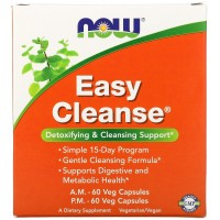 EASY CLEANSE 120 капсул NOW Foods