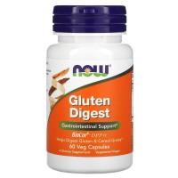 Gluten Digest 60 растительных капсул NOW Foods