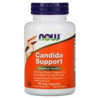 Candida Support 90 растительных капсул NOW Foods