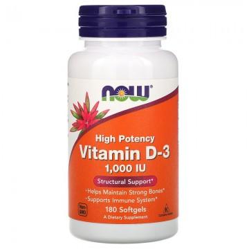 Vitamin D3 (витамин D) 1000 МЕ 180 мяг. капсул NOW Foods
