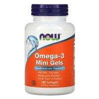 Omega-3 Mini, Омега-3 180EPA/120DHA Мини 500 мг - 90 капсул Now Foods