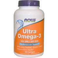 ULTRA OMEGA 3 FISH OIL 180 капс. NOW Foods