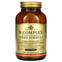 B-Complex with Vitamin C (витамины B, C) Stress Formula 250 таб. Solgar