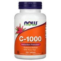C-1000 (витамин С) 100 таблеток NOW Foods
