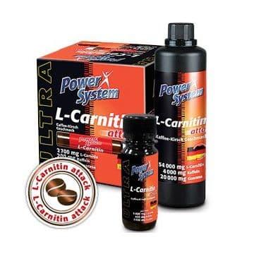Карнитин+кофеин+гуарана жидкий в ампулах 20х25 мл Power System