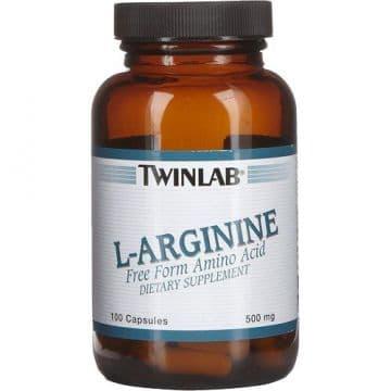 L-Arginine 500 мг 100 капс. Twinlab