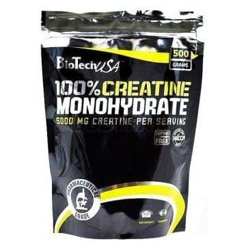 100% Creatine Monohydrate в пакете 500 г Biotech USA