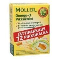 Moller Omega-3 Pikkupalat 72 вкусовые капсулы рыбки