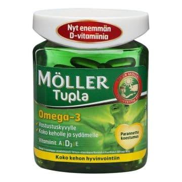 Moller Tupla. Омега 3 двойного действия. Рыбий жир. 100 капсул