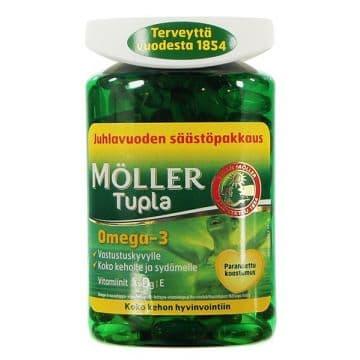 Moller Tupla. Омега 3. Двойного действия. 160 капсул